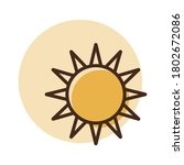 sun vector icon. weather sign....