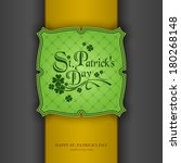 st. patrick's day background ... | Shutterstock .eps vector #180268148