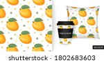 mango seamless pattern. sweet...   Shutterstock .eps vector #1802683603