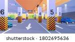 underground car parking vector...   Shutterstock .eps vector #1802695636