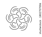 circular pattern in form of... | Shutterstock . vector #1802707006