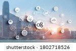 fintech  financial technology...   Shutterstock . vector #1802718526