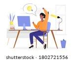 people with lightbulb idea...   Shutterstock .eps vector #1802721556