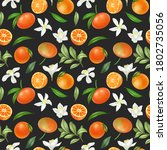 seamless pattern with hand... | Shutterstock . vector #1802735056