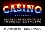 Casino Alphabet  Shiny Metallic ...
