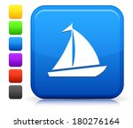 sailboat icon on square... | Shutterstock .eps vector #180276164