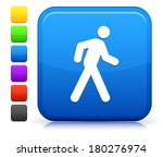 walking icon on square internet ... | Shutterstock .eps vector #180276974