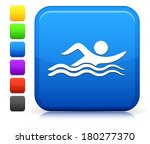 swimming icon on square... | Shutterstock .eps vector #180277370