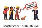 black people workers demanding... | Shutterstock .eps vector #1802782750