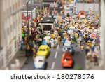 Miniature Town With Many People