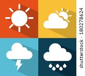 weather icons of summer  rain ... | Shutterstock .eps vector #180278624