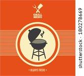 grill menu barbecue on orange... | Shutterstock .eps vector #180278669