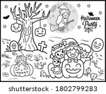 coloring book page for... | Shutterstock .eps vector #1802799283
