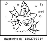 coloring book page for... | Shutterstock .eps vector #1802799319