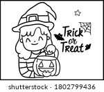 coloring book page for... | Shutterstock .eps vector #1802799436