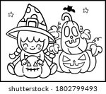 coloring book page for... | Shutterstock .eps vector #1802799493