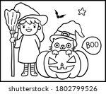 coloring book page for... | Shutterstock .eps vector #1802799526