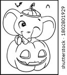 coloring book page for... | Shutterstock .eps vector #1802801929