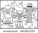 coloring book page for... | Shutterstock .eps vector #1802801959