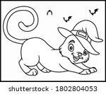 coloring book page for... | Shutterstock .eps vector #1802804053