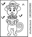 coloring book page for... | Shutterstock .eps vector #1802804080