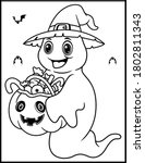 coloring book page for... | Shutterstock .eps vector #1802811343