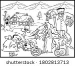 coloring book page for... | Shutterstock .eps vector #1802813713