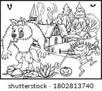 coloring book page for... | Shutterstock .eps vector #1802813740