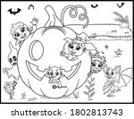 coloring book page for... | Shutterstock .eps vector #1802813743