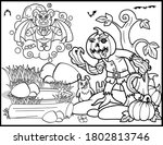 coloring book page for... | Shutterstock .eps vector #1802813746