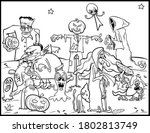 coloring book page for... | Shutterstock .eps vector #1802813749