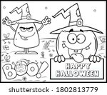 coloring book page for... | Shutterstock .eps vector #1802813779