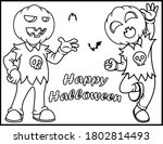 coloring book page for... | Shutterstock .eps vector #1802814493
