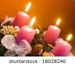 christmas wreath with violet... | Shutterstock . vector #18028240