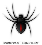 spider icon for halloween web... | Shutterstock .eps vector #1802848729
