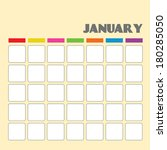 blank calendar for your use  | Shutterstock .eps vector #180285050
