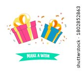 two give happy birthday design... | Shutterstock .eps vector #1802852863