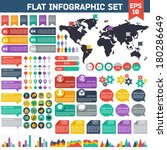 flat infographic elements set.... | Shutterstock .eps vector #180286649