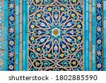 muslim ornaments at the blue... | Shutterstock . vector #1802885590