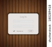 vector login form on wooden...