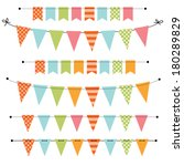 blank banner  bunting or swag... | Shutterstock .eps vector #180289829