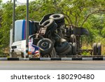 Overturned Truck Accident On...