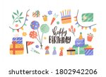 set of hand drawn decoration... | Shutterstock .eps vector #1802942206
