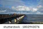 Pier At Baltic Sea On Windy Day
