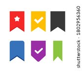 bookmark vector icons set label ...