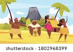 hawaii dance composition with... | Shutterstock .eps vector #1802968399