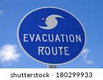 Evacuation Route Sign   Seen In ...