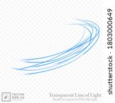 transparent blue wavy line ... | Shutterstock .eps vector #1803000649