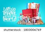 let's go travel around the... | Shutterstock .eps vector #1803006769