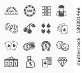casino and gambling vector... | Shutterstock .eps vector #180301466